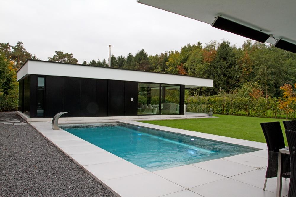 Priv tuin met zwembad en vijver st katelijne waver sempervirens tuinaanleg en tuinonderhoud - Omgeving zwembad ontwerp ...