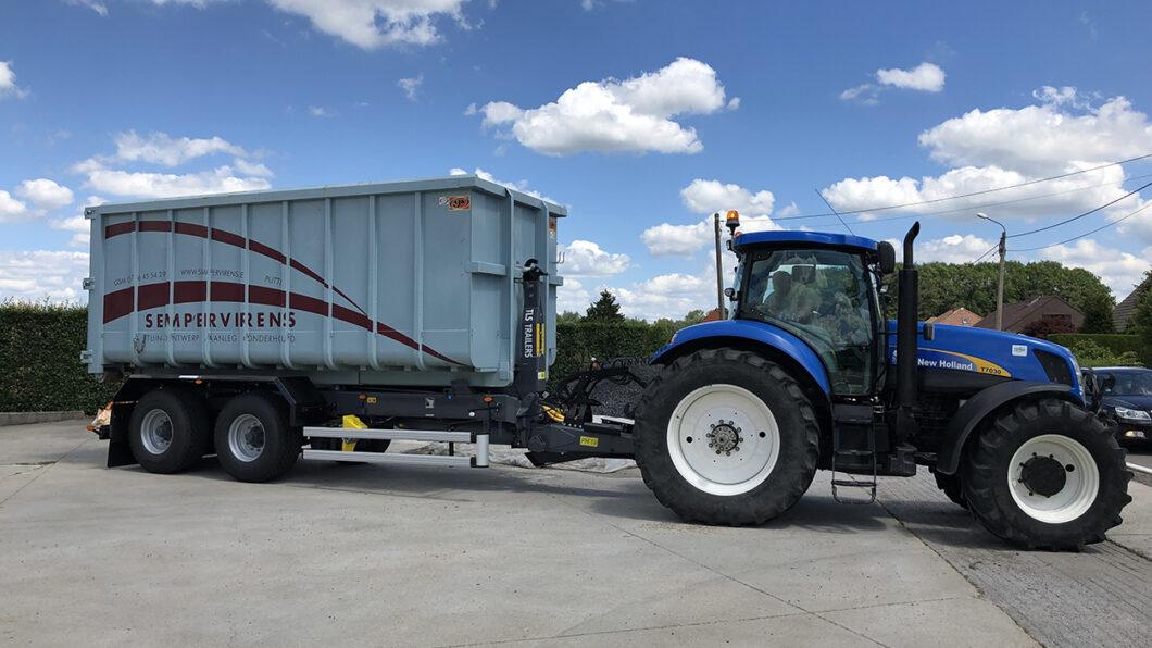 tractor 200 pk met containersysteem en 30 m³ container